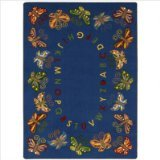 "Joy Carpets Kid Essentials Early Childhood Butterfly Delight Rug, Multicolored, 7'8"" x 10'9"""