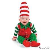 Baby Elf Costume Santa'S Lil Helper Christmas Halloween