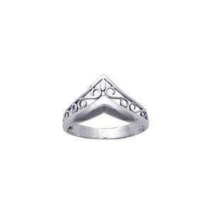 So Chic Schmuck - Ring Fingerring Diadem Französische Lilie Lilienblüte Sterling Silber - Größe 50