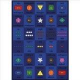 "Joy Carpets Kid Essentials Language & Literacy Button Button Rug, Multicolored, 5'4"" x 7'8"""