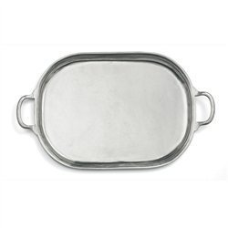 Arte Italica Caffe Large Oval Tray With Handles By Arte Italica