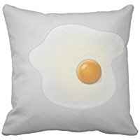 [Stefan Paula Custom Pillowcase Fried Egg Pillowcase Pillow Case Cover Size 18X18 Inch (Two Sides)] (Toddler Fried Egg Costume)