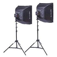 Interfit Photographic Super Cool-lite Continuous Fluorescent 2 Head Lighting Kit