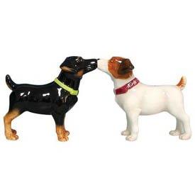 MWAH Kissing Jack Russell Terrier Terriers Dogs Salt Pepper Shakers