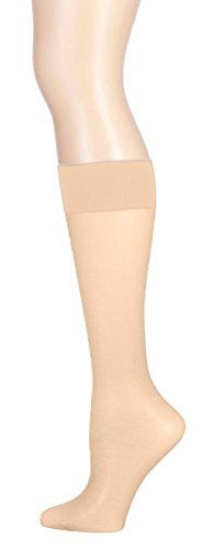 Butterfly Hosiery Women's Plus Size Silky Sheer Knee High Stockings (6 Pairs)