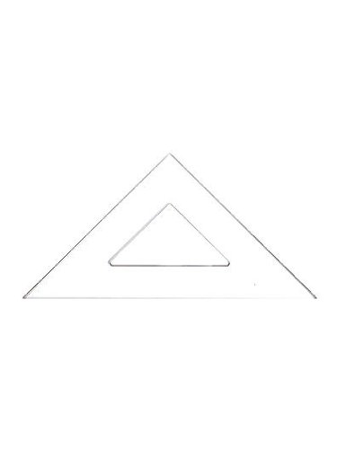 C-Thru Transparent Triangles Scholastic-45/90 Degree 12 In. [Pack Of 6 ]