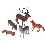 US Toy Woodland Forest Toy Animal Figures Action Figure (1 Dozen)