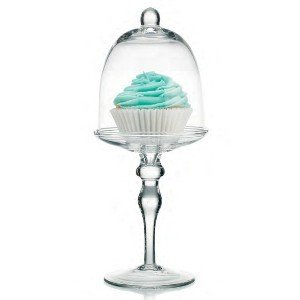 Sweet Cupcake Dome Pastry Glass Holder Cupcake Carrier
