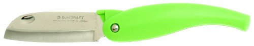 Suncraft Folding Paring And Fruit Knife, Green