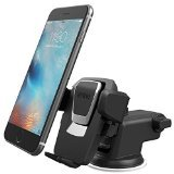 iOttie Easy One Touch 3 (V2.0) Car Mount Universal Phone Holder for iPhone 6s Plus 6s SE Samsung Galaxy S7 Edge S6 Edge Note 5 4- Retail Packaging- Black