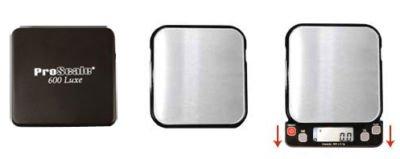 PROMOTION - Balance electronique de poche très précise avec plateau inox LUXE 600 - 600g x 0.1g