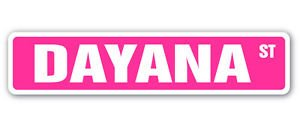 DAYANA Street Sticker Sign name childrens room door gift kid child boy
