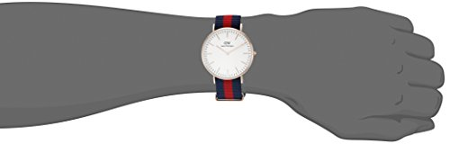 Daniel Wellington Men's 0101DW Classic Rose Gold-Tone Watch with Striped Band