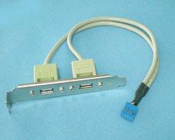「199」USB2ポート ブラケット付き リアスロット増設ケーブル-525994