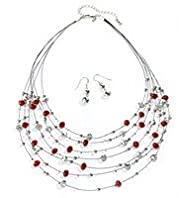 Stargazer Multi-Faceted Bead Necklace & Earrings Set