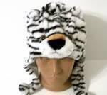 White tiger animal hat, animal beanie