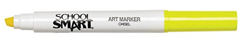 School Smart Chisel Tip Watercolor Marker - Set of 12 - Yellow