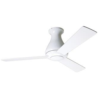 "42"" Modern Fan Altus Gloss White Hugger Ceiling Fan"