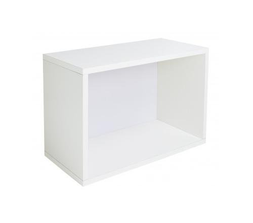 Way Basics Rectangle Plus Bookcase, White