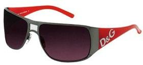 Authentic D&G Sunglasses 6009 GUNMETAL RED 04/7A