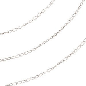 """1.0 mm Solid 14K White or Yellow Gold Curb Chain Necklace 16"""" 18"""" 20"""" 24"""" NEW (14K White Gold, 16 Inches)"""