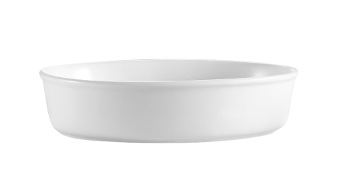 Cac China Odp-8 46-Ounce Porcelain Oval Deep Platter, 8 By 11 By 2-Inch, Super White, Box Of 12