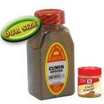 CUMIN GROUND FRESHLY PACKED IN LARGE JARS, comino, spices, herbs, seasonings