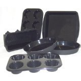 WellBake Professional 6 Pce Bakers Set. Superior Quality Non-Stick Silicone Bakeware + 10 Year Guarantee