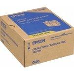 Epson Aculaser C 9300 N - Original Epson C13S050606 / 0602 - Cartouche de Toner Jaune 2 pieces - 2 x 7500 pages