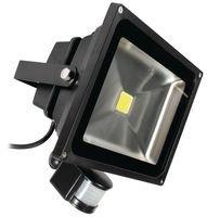 Projecteur LED avec détecteur de mouvement Noir en Fonte d'Aluminium 10W IP65, ledfl10b