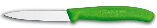 Victorinox Swiss Classic 3-1/4-Inch Paring Knife With Spear Tip, Green Handle