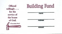 Offering Envelope-Building Fund (Kwik Open) (Package of 100) (Building Fund Envelopes compare prices)