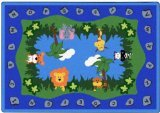 "Joy Carpets Kid Essentials Infants & Toddlers Jungle Peeps Rug, Multicolored, 5'4"" x 7'8"""
