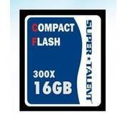 Super Talent 16GB High Speed Compact Flash Memory Card (CF/16G-300X)