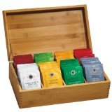 Bamboo Tea Gift Set W/ 80 Assorted Stash Teabags