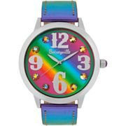 Betsey Johnson Betseyville Happy Rainbow Strap Watch