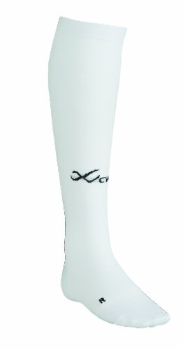 CW-X Conditioning Wear Ventilator Compression Support Running Socks,White,Small