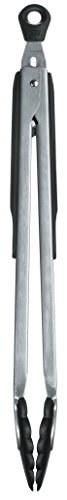 OXO GG 1054628BK 12-Inch Tongs with Nylon Heads, Silver
