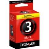 Lexmark LEX18C1530 No. 3 Black Ink Cartridge, Black Ink from Lexmark