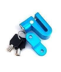 Indiashopers Disc Brakes Bike Disc Lock Bicycle Motorcycle Disk Brake Lock + 2 Keys