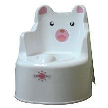 BeBeLove Animal Potty Trainer with Animal-Themed Training Seat 11.25 in. W x 14 in. D x 12 in. H (191)