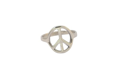 Sterling Silver Peace Ring-size 4