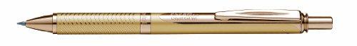 Pentel EnerGel BL407X-A - Bolígrafo roller (ancho de traza 0,35 mm, diámetro bola 0,7 mm, tinta negra), color dorado