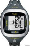 Timex Unisex T5K745 Ironman Run Trainer 2.0 GPS Speed+Distance Gray/Green Watch