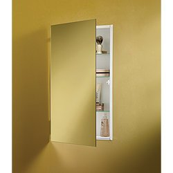 NuTone 869P24WHG Specialty Flush Mount Single-Door Recessed Mount Medicine Cabinet