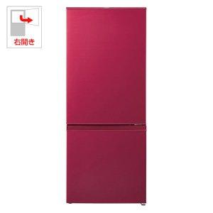 アクア 184L 2ドア冷蔵庫(ルージュ)【右開き】AQUA AQR-18E-R