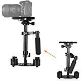 "WAAO S40 15.7""/40CM Handheld Stabilizer Steadicam Pro Version for Camera Video DV GoPro DSLR Nikon Canon, Sony, Panasonic with Quick Release Plate (Black) (Color: WA - S40)"