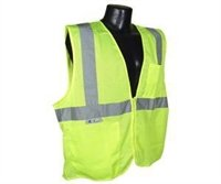 Radians SV2ZGMXL Polyester Mesh Economy Class 2 High Visibility Vest with Zipper Closure, X-Large, Green