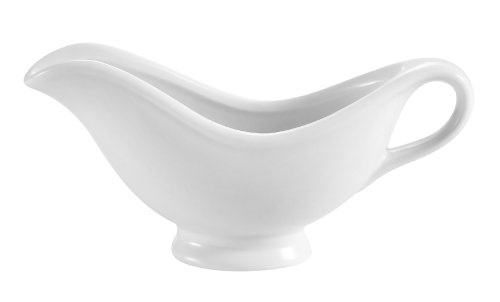 Cac China Sbt-5 5.5-Ounce Porcelain Boat Shape Sauce Bowl, 7-1/8 By 2-1/2 By 3-3/4-Inch, Super White, Box Of 36