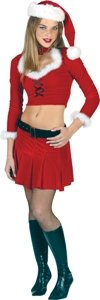 Sexy Santa Velour Set Costume